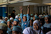Elementary school students (Murid SD) at the Al Akbar Mosque (Great Mosque) of Surabaya, Indonesia. It is the second largest mosque in Indonesia after the Istiqlal Mosque in Jakarta.