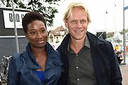 NPO Opening televisieseizoen 2015-2016 in het JT Theater, Hilversum.<br /> <br /> Op de foto:  Milouska Meulens en Menno Bentveld