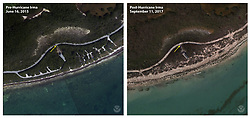 September 11, 2017 - Key West, Florida, U.S - Before and After damage from Hurricane Irma. The beach and campground in Bahia Honda Key State Park experienced erosion due to elevated water levels during Hurricane Irma. (Credit Image: © USGS/ZUMA Wire/ZUMAPRESS.com)