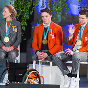 NLD/Den Haag/20180323 - Huldiging Olympische en Paralympische medaillewinnaars, Carlijn Achtereekte, Jeroen Kampscheer en Sven Kramer
