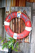 Life saving ring at John's Pass Village.  Madeira Beach Tampa Bay Area Florida USA
