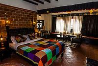 Guest room, Hotel Heritage, Bhaktapur, Kathmandu Valley, Nepal.