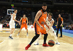 December 19, 2017 - Madrid, Madrid, Spain - Bojan Dubljevic (center), #14 of Valencia in action during the 2017/2018 Turkish Airlines EuroLeague Regular Season Round 13 game between Real Madrid and Valencia Basket at WiZink center in Madrid. (Credit Image: © Jorge Sanz/Pacific Press via ZUMA Wire)