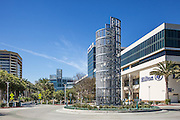 The Anaheim Convention Center and Hilton Hotel