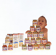 Son Nico with Earth's Best Baby Food.