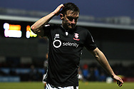 Lee Frecklington of Lincoln City looks frustrated during the game. EFL Skybet Football League two match, Barnet v Lincoln City at the Hive in London on Saturday 20th January 2018. <br /> pic by Steffan Bowen, Andrew Orchard sports photography.
