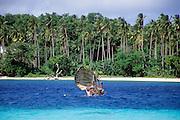 Sailing,Kula canoe, Kitava Island, Trobriand Islands, Papua New Guinea