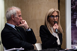 November 21, 2018 - Rome, iItaly, Italy - Riccardo Franco Levi (President of the Italian Publishers Association)  with Annamaria Malato  (Credit Image: © Andrea Ronchini/NurPhoto via ZUMA Press)