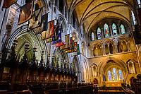 République d'Irlande, Dublin, interieur de la Cathedrale Saint Patrick // Republic of Ireland; Dublin, St Patrick's cathedral church is a national church of Republic of Ireland, interior1