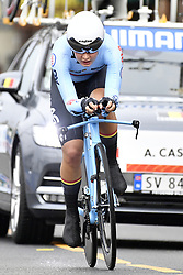 September 18, 2017 - Bergen, NORWAY - Belgian Alana Castrique pictured in action during the Women Junior individual time trial at the 2017 UCI Road World Cycling Championships in Bergen, Norway, Monday 18 September 2017. BELGA PHOTO YORICK JANSENS (Credit Image: © Yorick Jansens/Belga via ZUMA Press)
