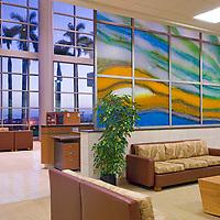 Maui Medical Center, interior view, lobby left side view