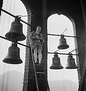Man on Ladder in Bell Tower, Salzburg, Austria, 1937