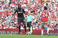 West Ham United defender Arthur Masuaku (26) during the Premier League match between Arsenal and West Ham United at the Emirates Stadium, London, England on 22 April 2018. Picture by Bennett Dean.