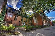 Beautiful afternoon on Rue des Grands Prés, Montreal, Quebec, Canada