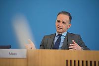 DEU, Deutschland, Germany, Berlin, 19.05.2021: Bundesaussenminister Heiko Maas (SPD) in der Bundespressekonferenz zum Thema Weißbuch Multilateralismus.
