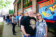 Bonnie Raitt fans waited outside Music Millennium in Portland, Oregon on April 16, 2016 (Record Store Day). The store hosted a meet-and-greet with Ms. Raitt in support of Oregon Music Hall Of Fame's 'Music In The Schools' Program.