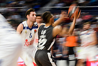 Real Madrid's Rudy Fernandez and Brose Bamberg's Maodo Lo during Turkish Airlines Euroleague between Real Madrid and Brose Bamberg at Wizink Center in Madrid, Spain. December 20, 2016. (ALTERPHOTOS/BorjaB.Hojas)