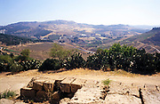 General view of landscape from Akragas, Agrigento, Sicily, Italy in 1999