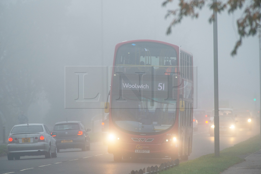 © Licensed to London News Pictures. 05/11/2020.  <br /> Bromley, UK. Freezing cold foggy weather conditions this morning in Bromley, South East London as temperatures drop to -3 in some parts of the UK. Photo credit:Grant Falvey/LNP