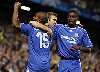 Photo: Richard Lane/Sportsbeat Images.<br />Chelsea v Rosenborg. UEFA Champions League Group B. 18/09/2007. <br />Chelsea's Andriy Shevchenko (c) celebrates his goal.
