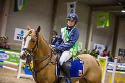 Delgouffe Nell, BEL, Mieke<br /> Nationaal Indoor Kampioenschap Pony's LRV <br /> Oud Heverlee 2019<br /> © Hippo Foto - Dirk Caremans<br /> 09/03/2019