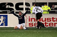 Fotball , 15. mars 2009 , Tippeligaen , Strømsgodset - Start 3-3 <br /> Roper på straffespark, men blir ikke hørt , Steffen Nystrøm  , SIF