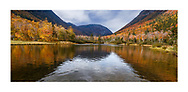 The peak of autumn at Crawford Notch State Park in the White Mountains of New Hampshire, USA