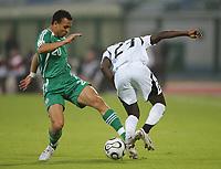 v.l. Peter Odemwingie, Draman Haminu Ghana<br /> Africa Cup 2006 Nigeria - Ghana<br /> Foto: Digitalsport