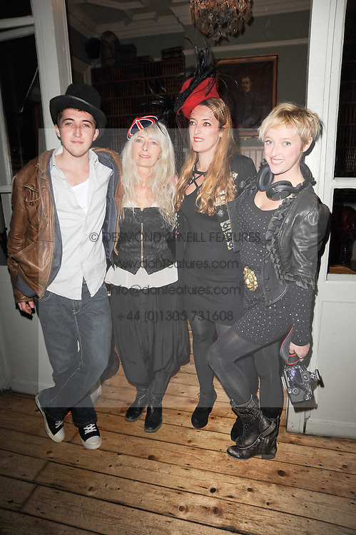 Left to right, HENRY TEMPERLEY, DI TEMPERLEY, MARY TEMPERLEY and MATHILDA TEMPERLEY at a party to celebrate the 1st anniversary of Alice Temperley's label held at Paradise, Kensal Green, London W10 on 25th November 2010.