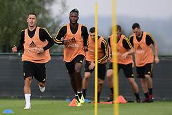 September 4, 2018 - Tubize, Belgique - Eden Hazard midfielder of Belgium and Michy Batshuayi forward of Belgium (Credit Image: © Panoramic via ZUMA Press)