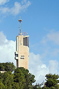 Israel, Jerusalem, Mt. Scopus. The tower of the Hebrew university in Jerusalem
