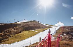 THEMENBILD - die ersten Skipisten am Resterkogel sind perfekt präpariert, aufgenommen am 12. Oktober 2018, Jochberg, Österreich // the first ski slopes at the Resterkogel are perfectly prepared on 2018/10/12, Ort, Austria. EXPA Pictures © 2018, PhotoCredit: EXPA/ Stefanie Oberhauser