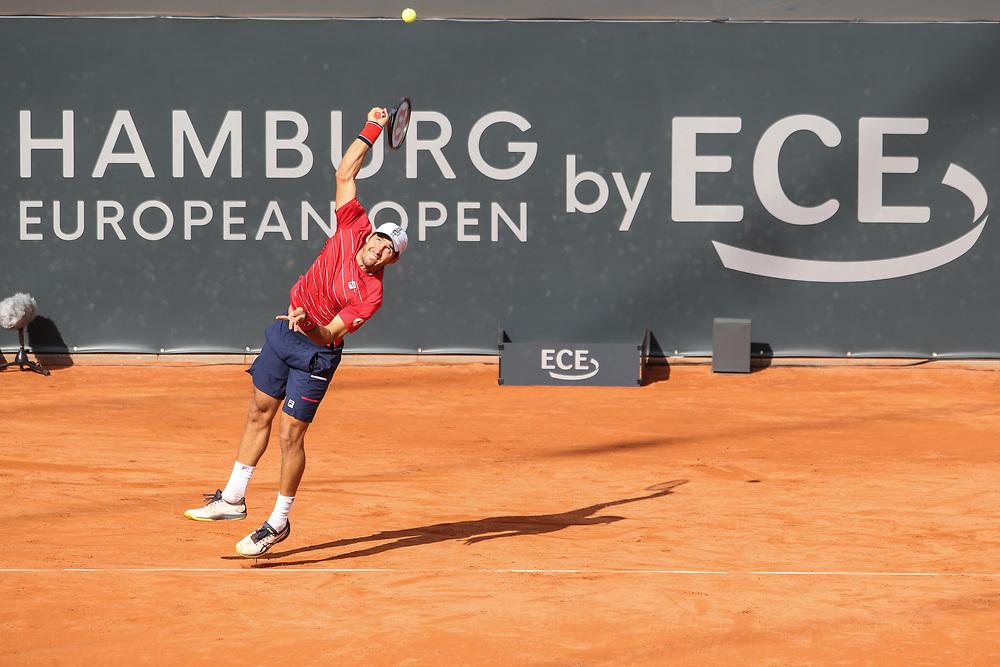 TENNIS: European Open 2020, Rothenbaum, Viertelfinale, Hamburg, 25.09.2020<br /> Dusan Lajovic (SRB) - Stefano Tsitsipas (GRE)<br /> © Torsten Helmke