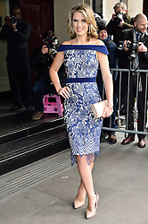 © Licensed to London News Pictures. 08/03/2016. CHARLOTTE HAWKINS arrives for the TRIC Awards. The Television and Radio Industries Club's annual awards ceremony, honour's the best performers and programmes  of the last year .London, UK. Photo credit: Ray Tang/LNP