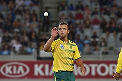 February 17, 2017 - Auckland, New Zealand - Dane Paterson of South Africa is in action during international Twenty20 cricket match between South Africa and New Zealand. (Credit Image: © Shirley Kwok/Pacific Press via ZUMA Wire)