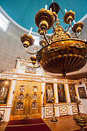 Interior view of the St. Michael's Cathedral, a Russian orthodox church in Sitka, Alaska.