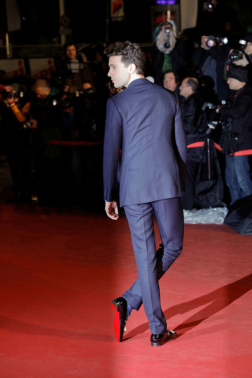 Mika poses as he arrives at NRJ Music Awards 2012 at Palais des Festivals on January 28, 2012 in Cannes.Mika  arrive au NRJ Music awards 2012 au Palais des Festivals le Janvier 28 2012 à Cannes.