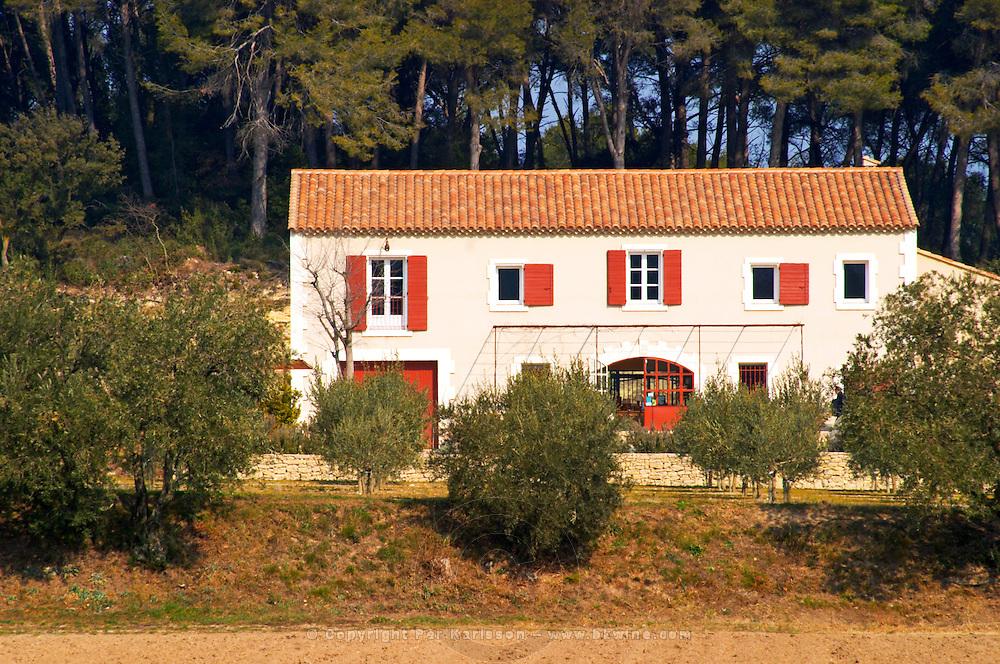 The main building the Olive oil mill Moulin du Calanquet de Saint St Remy de Provence, Bouche du Rhone, France