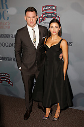 Actors Channing Tatum and Jenna Dewan Tatum attend the HBO Premiere of 'War Dog: A Soldier's Best Friend' at The Directors Guild of America on November 6, 2017 in Los Angeles, California. (Photo by CraSH/imageSPACE)