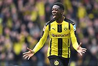 1:0 Jubel Torschuetze Ousmane Dembele (Dortmund)<br /> Dortmund, 04.03.2017, Fussball Bundesliga, Borussia Dortmund - Bayer 04 Leverkusen<br /> Norway only