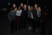 April 1, 2016; Indianapolis, Ind.; Members of the UAA women's basketball team pose for a photo with UConn head coach Geno Auriemma at the Women's Final Four Salute at the Indianapolis Motor Speedway.