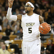 Central Florida guard Marcus Jordan (5) gives instructions against Louisville during their game at the UCF Arena on December 15, 2010 in Orlando, Florida. UCF won the game79-58. (AP Photo/Alex Menendez)