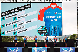 Ceratizit - WNT Pro Cycling on stage at the 2020 La Course By Le Tour with FDJ, a 96 km road race in Nice, France on August 29, 2020. Photo by Sean Robinson/velofocus.com