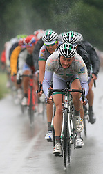 Team LPR Brakes leading peloton during 3rd stage of the 15th Tour de Slovenie from Skofja Loka to Krvavec (129,5 km), on June 13,2008, Slovenia. (Photo by Vid Ponikvar / Sportal Images)/ Sportida)