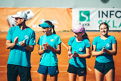 during tenis match in 7Play off league for U14, on 7 of September, 2021 in ZTK Maribor, Slovenia. Photo by Blaž Weindorfer / Sportida