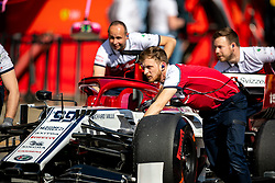 February 28, 2019 - Montmelo, Barcelona, Calatonia, Spain - Alfa Romeo Racing team mates and Antonio Giovinazzi's C38 car seen in action during the second week F1 Test Days in Montmelo circuit, Catalonia, Spain. (Credit Image: © Javier Martinez De La Puente/SOPA Images via ZUMA Wire)