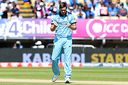 Chris Woakes of England celebrates taking the wicket of K. L. Rahul of India - Mandatory by-line: Robbie Stephenson/JMP - 30/06/2019 - CRICKET - Edgbaston - Birmingham, England - England v India - ICC Cricket World Cup 2019 - Group Stage