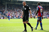 Referee Kevin Friend in action. Barclays Premier League match, Crystal Palace v Stoke City at Selhurst Park in London on Saturday 7th May 2016. pic by John Patrick Fletcher, Andrew Orchard sports photography.