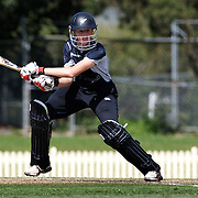 Amy Satterthwaite batting during the match between England and New Zealand in the Super 6 stage of the ICC Women's World Cup Cricket tournament at Bankstown Oval, Sydney, Australia on March 14 2009, England won the match by 31 runs. Photo Tim Clayton