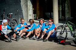 24-05-2016 SPA: BvdGF WeBike2ChangeDiabetes Challenge, Perarrua<br /> Dag 4  Pont de Suert – Castejon de Sos / Rene, Nicole, Marielle, Maaike, marion